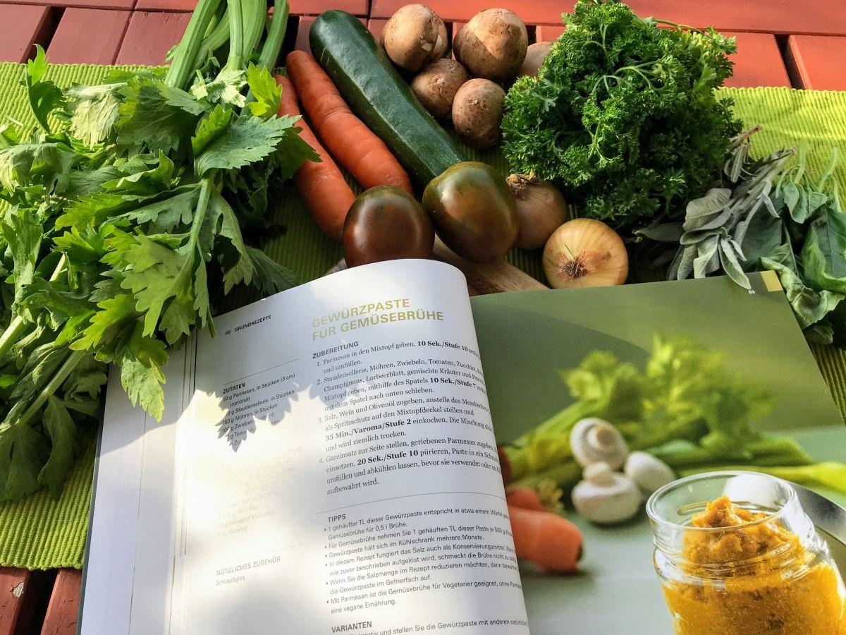 Zutaten für die Gemüsepaste