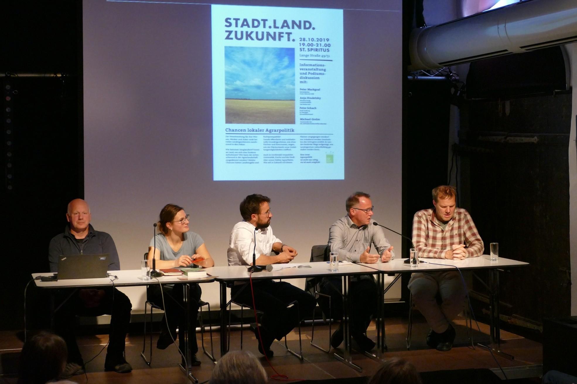 Podiumsdisskussion in Greifswald